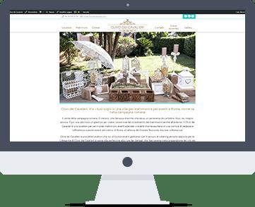 Siti web per location, siti web per eventi